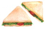 Triangular sandwiches